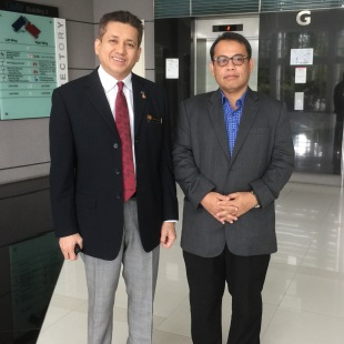 Eddie Razak and Dato Abdul Fattah Abdullah President Angkasa
