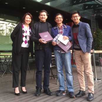 Eddie Razak, Angeline Chin Credit Suisse, Ehon Chan MaGIC, Joshua Lim Korea Social Investment - Nov 2015