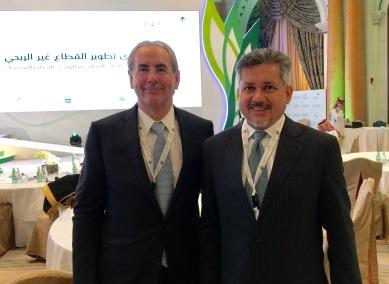 Eddie Razak in Riyadh with Sir Harvey McGrath Chairman of Big Society Capital UK - Dec 2016