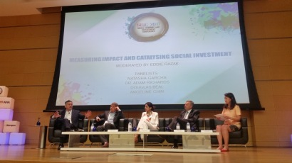 Eddie Razak moderating at the Social Economy and Investment Conference - March 2017