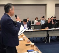 Eddie Razak reading the Social Enterprise Leaders Alliance Declaration in Seoul Korea 23 June 2017