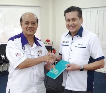Eddie Razak visit to Dato Raja Ruslan Raja Samah CEO Persekutuan Pengakap Malaysia - Apr 2016