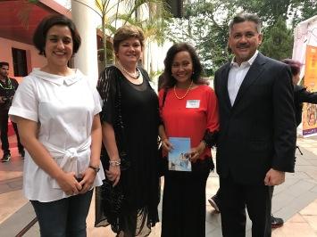 Eddie Razak with Aireen Omar AirAsia, Sarah Deverall British Council and Tengku Nasariah Petrosains