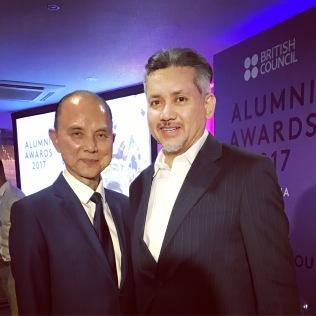 Eddie Razak with Datuk Jimmy Choo at British Alumni Awards - March 2017