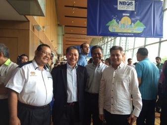 Eddie Razak with Datuk Mark Rozario Naser Jaafar Abdullah Arshad at NBOS Day 2015