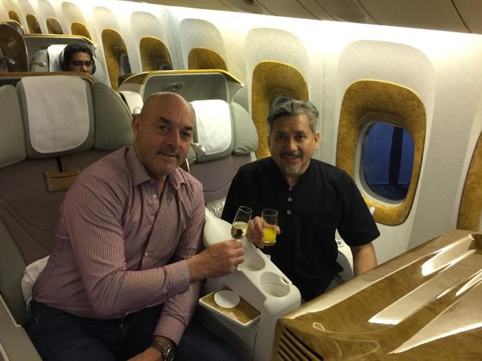 Eddie Razak with Liverpool legend Bruce Grobbelaar - Dec 2016