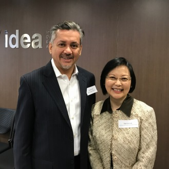 Eddie Razak with Patricia Lau who runs the Efficiency Unit HK$500 million SIE Fund for poverty reduction and other social innovations - March 2017