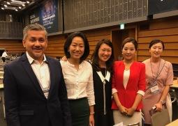 Eddie Razak with Prof Dr Norah X Wang Hongkong Polytechnic University, Angeline Chin Credit Suisse, Claire and Jiae of Korea Social Enterprise Promotion Agency 23 June 2017