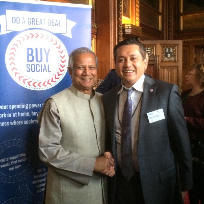 Eddie Razak with Prof Muhammad Yunus - Nov 2014