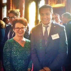 Eddie Razak with Rt Hon Hazel Blears MP at the Houses of Parliament UK