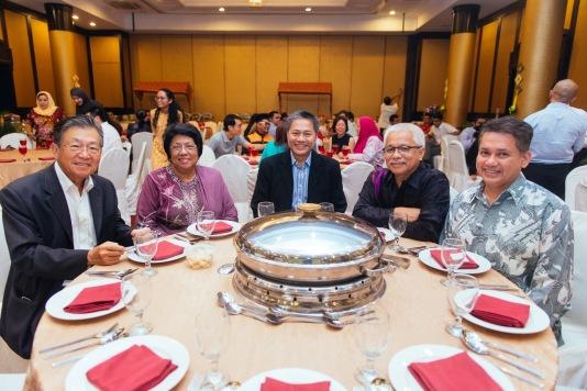 Eddie Razak with Tan Sri Yong Royal Selangor, Dato Leela Yayasan Budi Penyayang Datuk Mark Rozario and Datuk Husammuddin Karangkraf - July 2016