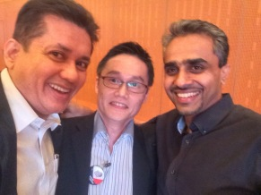 Eddie Razak with Yap Far Loon and Albern Murty former Lucent Technologies employees - Oct 2015