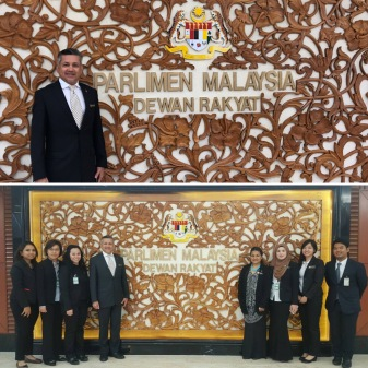 Social Innovation team at Parlimen Malaysia for Social Impact Committee meeting - April 2017