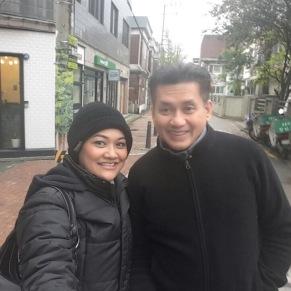 Eddie Razak and Dinie in Korea - Nov 2015